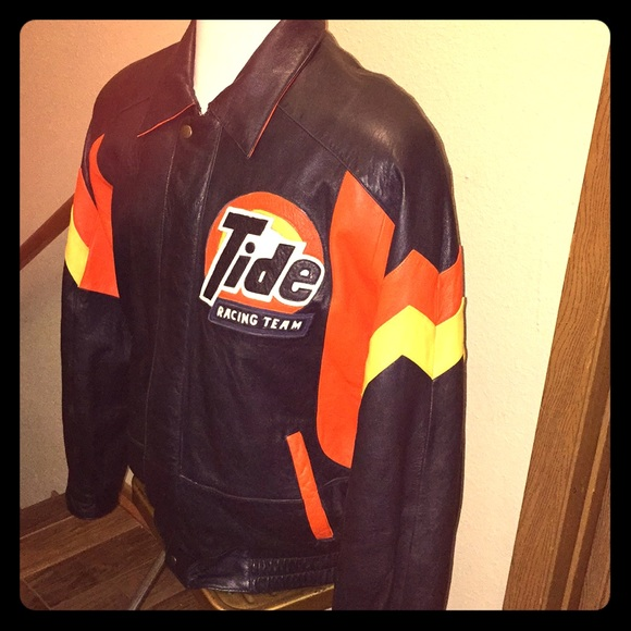 6f2f1df0645a unbranded Jackets & Coats | Tide Racing Leather Jacket Mens Size Xl ...